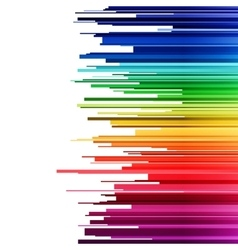 Abstract infographics horizontal rainbow gradient vector