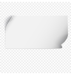 Sheet of paper template vector