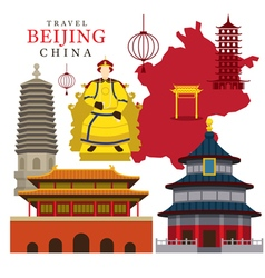 Travel beijing china vector