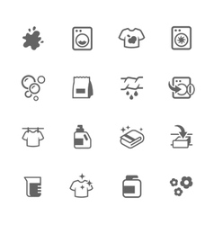 Simple laundry icons vector