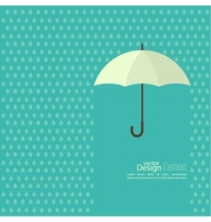 Abstract background with umbrella vector image