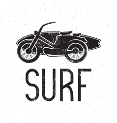 Vintage surfing tee design retro surf fest t vector