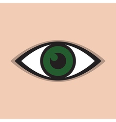 abstract eye icon green vector image vector image