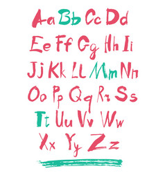 alphabet letters lowercase vector image vector image
