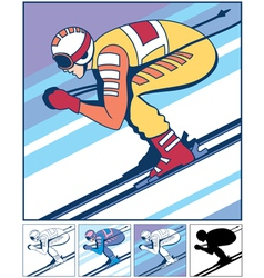 Alpine Skiing vector image