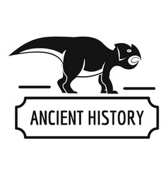 Ancient history logo simple black style vector