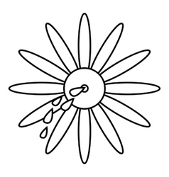 April fools day flower icon outline style vector