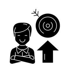 businessman - success - goal target icon vector image