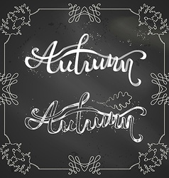 Chalk autumn background vector