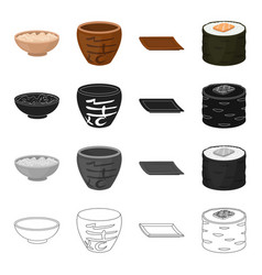 china national dishes and other web icon in vector image