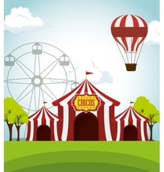 circus tents funfair entertainment design vector image vector image