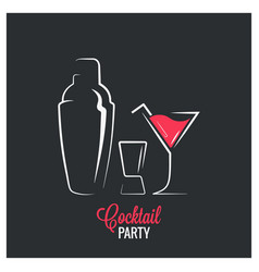 cocktail shaker design background vector image