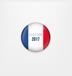 Flag of france round icon badge or button french vector