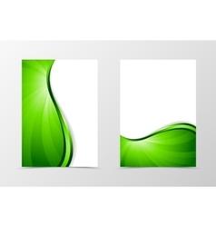 Flyer template vortex design vector