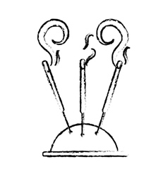 incense stick icon image vector image