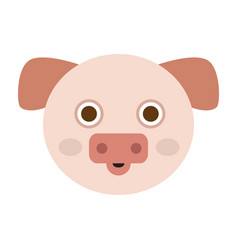 Isolated pig face vector