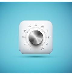 knob icon vector image
