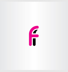 Logo f letter icon logotype symbol vector