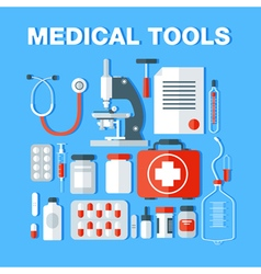 medical Medical Tools Icons Set Health Care Stuff vector image