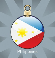 Philippines flag on bulb vector image vector image