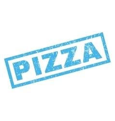 Pizza rubber stamp vector