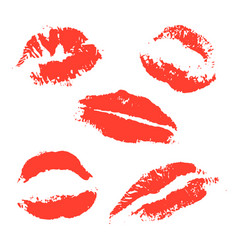 print of red lips vector image vector image