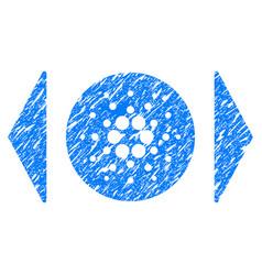 Regulate cardano icon grunge watermark vector