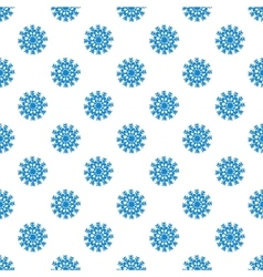 Seamless pattern from blue snowflakes vector