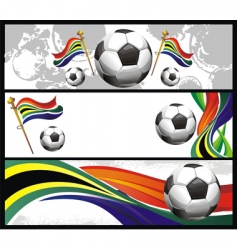 set of football banners vector image vector image