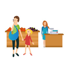 Shopping familiarity with a variety of goods vector