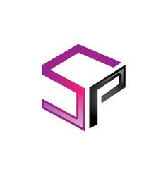 Sp letter logo vector