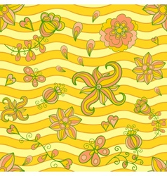 Summertime seamless pattern vector