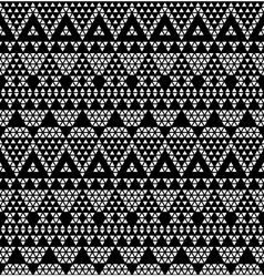Tribal monochromic lace vector image vector image