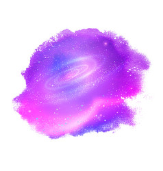 watercolor stain with outer space inside vector image