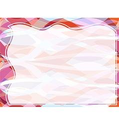 Wavy transparent retro slide background vector image vector image