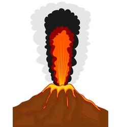 volcano cartoon vector image