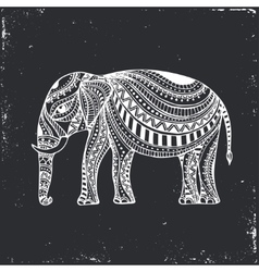 Indian hand drawn elephant arabic and jewish vector