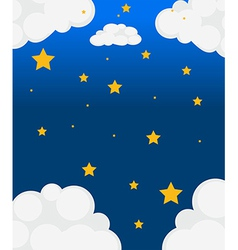 Stars in the sky vector