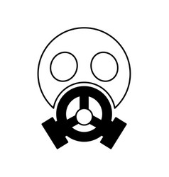 nuclear safety mask icon vector image