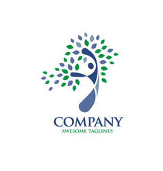 mental health psychology logo concept vector image