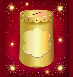 Blank template tin can vector