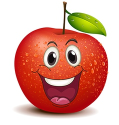A smiling apple vector