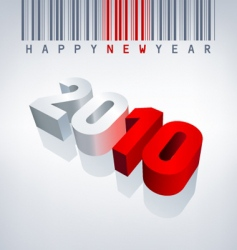 2010 new year barcode vector image