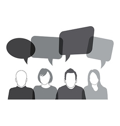 Black speech bubbles vector