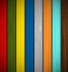 Wooden fence painted in different colors vector