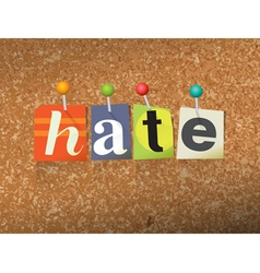 Hate concept vector