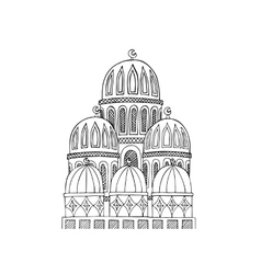 Abstract Mosque Sketchy hand drawn vector image vector image