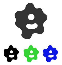 Ameba flat icon vector