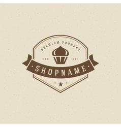 Bakery shop logo template design element vector