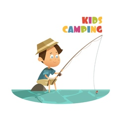 Camping children concept vector